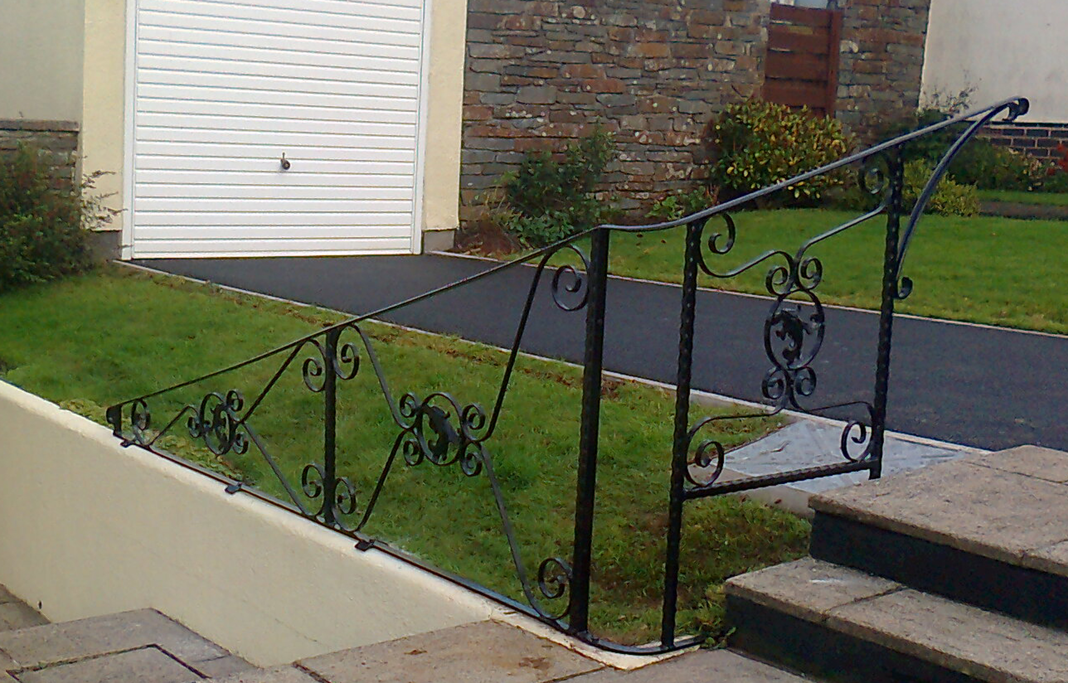 Wrought iron hand rail bespoke