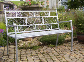 ornate iron garden seats benches bespoke