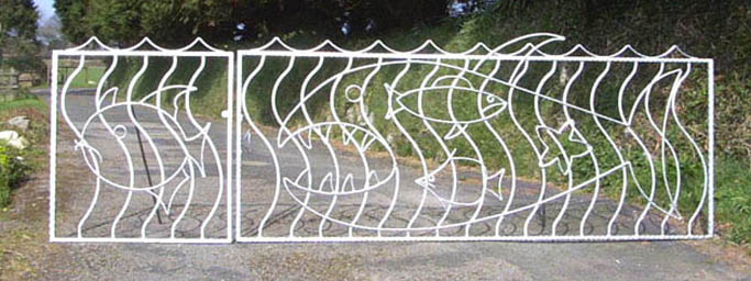 Unique bespoke galvanised iron gate design, custom made