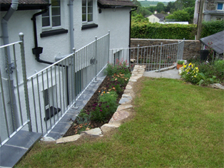 wrought iron steel galvanised railings