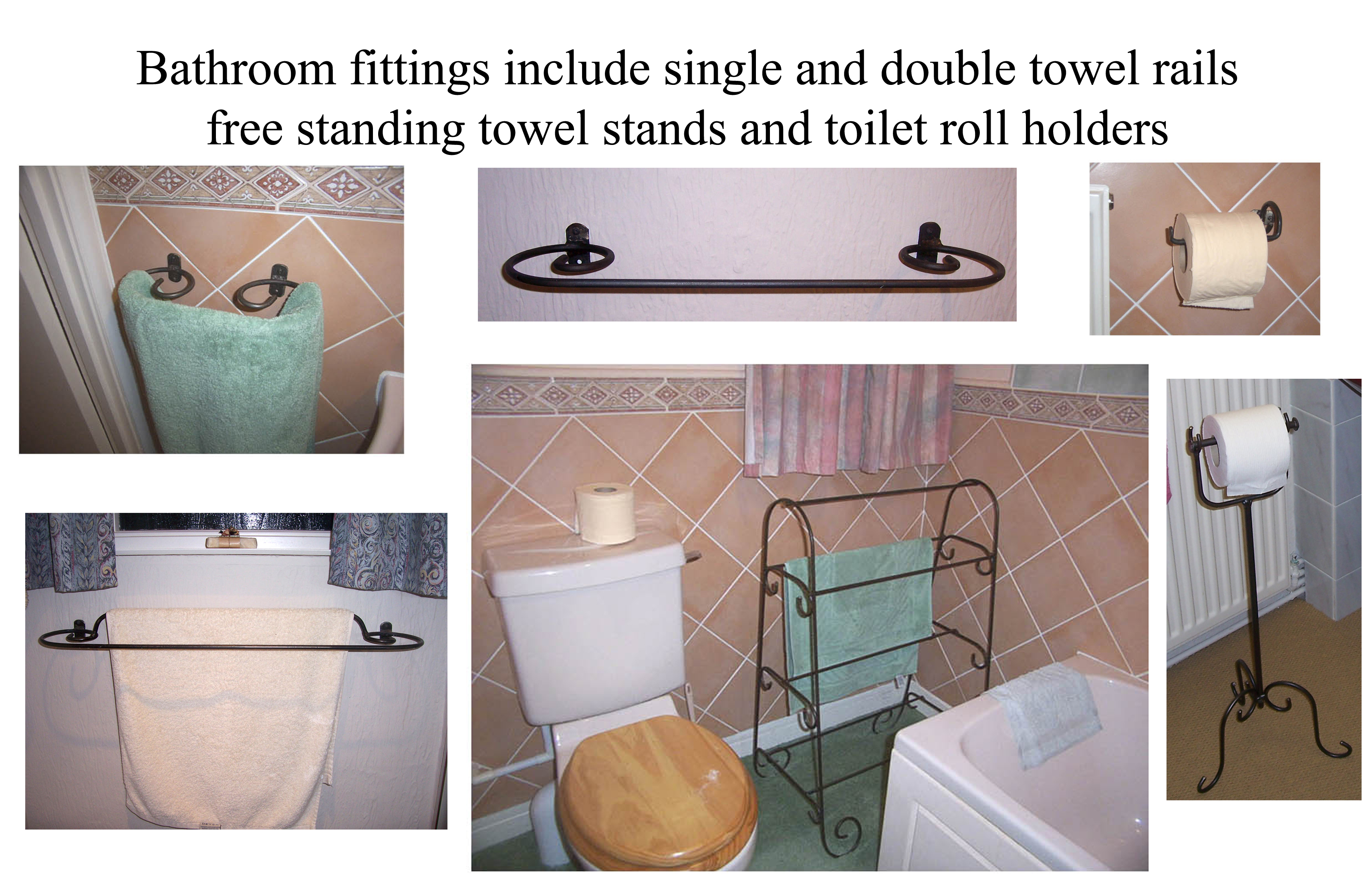 attractive iron bathroom fittings towel rails towel stands and toilet roll holders