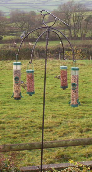 wrought iron bird feeder stands holders