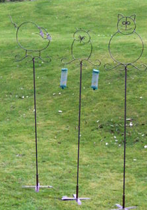 bird feeder holder stand wrought iron