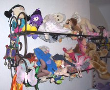book shelf used for soft toys