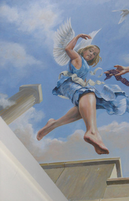 contemporary angel in mural