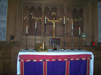 church altar candle holders