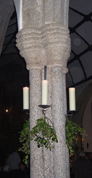 church pillar sconces