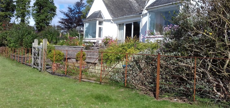 estate style steel wrought iron  fencing railings