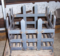 Steel open fire baskets for burning logs