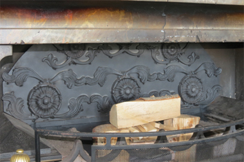 decorative steel fire back