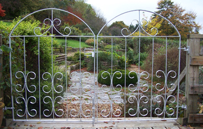bespoke wrought iron galvanised garden gates custom made
