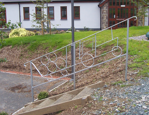 wrought iron hand rails custom made
