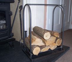 iron steel log holder basket