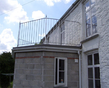 Wrought iron steel balcony railings