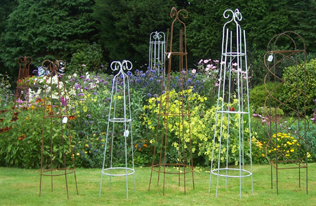 decorative wrought iron plant supports