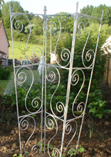 iron ornate plant support pannels