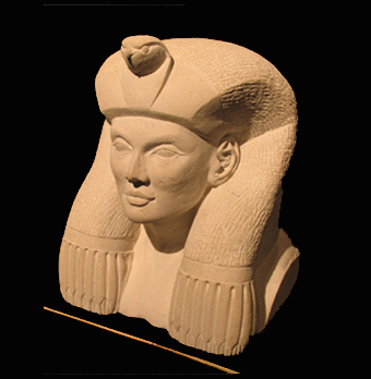 Stone carving queen's bust