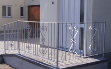galvanised wrought iron railings