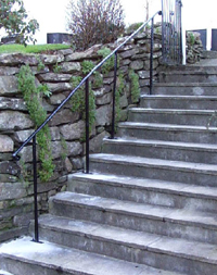 iron safety handrail