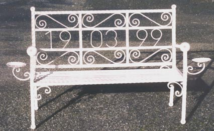 custom made personalised iron benches