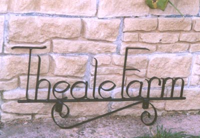 wrought iron house name sign