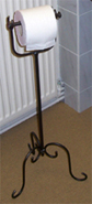wrought iron toilet roll stand bathroom fittings towelrails