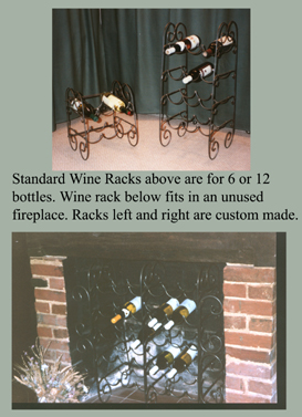 custom made wrought iron wine racks