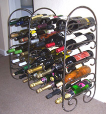 custom made wrought iron decorative wine racks